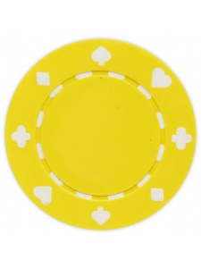 Yellow - Suited Clay Poker Chips