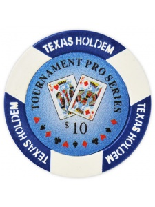 $10 Blue - Tournament Pro Clay Poker Chips