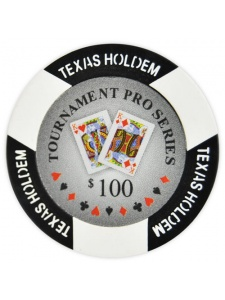 $100 Black - Tournament Pro Clay Poker Chips