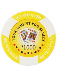 $1000 Yellow - Tournament Pro Clay Poker Chips