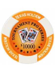 $10000 Orange - Tournament Pro Clay Poker Chips