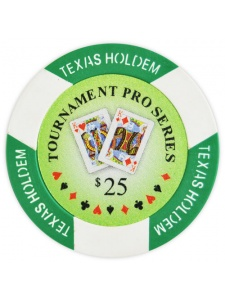 $25 Green - Tournament Pro Clay Poker Chips