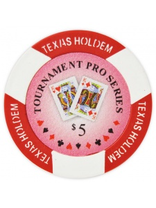 $5 Red - Tournament Pro Clay Poker Chips
