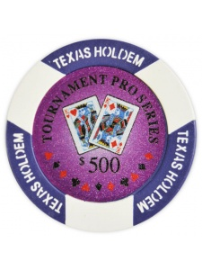 $500 Purple - Tournament Pro Clay Poker Chips