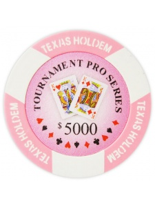 $5000 Pink - Tournament Pro Clay Poker Chips