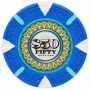 The Mint - $50 L. Blue Clay Poker Chips