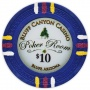 Bluff Canyon - $10 Blue Clay Poker Chips