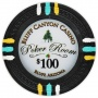 Bluff Canyon - $100 Black Clay Poker Chips