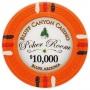 Bluff Canyon - $10000 Orange Clay Poker Chips