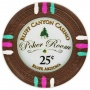 Bluff Canyon - 25¢ Brown Clay Poker Chips