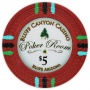 Bluff Canyon - $5 Red Clay Poker Chips