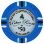 Bluff Canyon - $50 L. Blue Clay Poker Chips