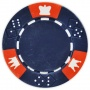 Crown & Dice - Blue Clay Poker Chips