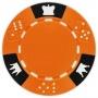 Crown & Dice - Orange Clay Poker Chips