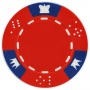 Crown & Dice - Red Clay Poker Chips