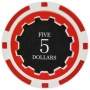 Eclipse - $5 Red Clay Poker Chips