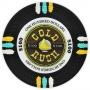 Gold Rush - $100 Black Clay Poker Chips