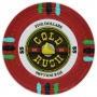 Gold Rush - $5 Red Clay Poker Chips