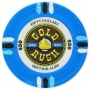 Gold Rush - $50 L. Blue Clay Poker Chips