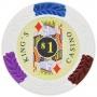King's Casino - $1 White Clay Poker Chips