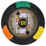 King's Casino - $100 Black Clay Poker Chips