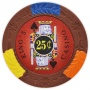 King's Casino - 25¢ Brown Clay Poker Chips