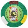 King's Casino - $25 Green Clay Poker Chips