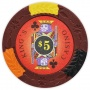 King's Casino - $5 Red Clay Poker Chips