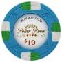 Monaco Club - $10 Blue Clay Poker Chips