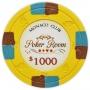 Monaco Club - $1000 Yellow Clay Poker Chips