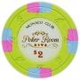 Monaco Club - $2 L. Green Poker Chips
