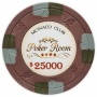 Monaco Club - $25000 Brown Clay Poker Chips