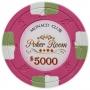 Monaco Club - $5000 Pink Clay Poker Chips