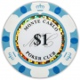 Monte Carlo Clay Poker Chips - $1 White