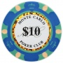 Monte Carlo - $10 Blue Clay Poker Chips