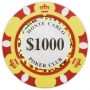 Monte Carlo - $1000 Yellow Clay Poker Chips