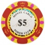 Monte Carlo - $5 Red Clay Poker Chips