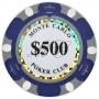 Monte Carlo - $500 Dark Blue Clay Poker Chips