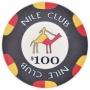 Nile Club - $100 Black Ceramic Poker Chips