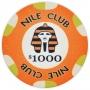 Nile Club - $1000 Orange Ceramic Poker Chips