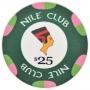 Nile Club - $25 Green Ceramic Poker Chips