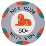 Nile Club- 50¢ Gray Ceramic Poker Chips
