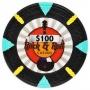 Rock & Roll - $100 Black Clay Poker Chips