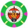 Rock & Roll - $25 Green Clay Poker Chips