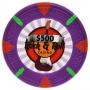 Rock & Roll - $500 Purple Clay Poker Chips