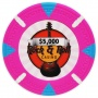 Rock & Roll - $5000 Pink Clay Poker Chips