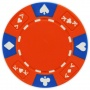 Ace King Suited - Red Clay Poker Chips