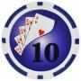 Yin Yang - $10 Blue Clay Poker Chips