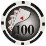 Yin Yang - $100 Black Clay Poker Chips