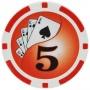 Yin Yang - $5 Red Clay Poker Chips